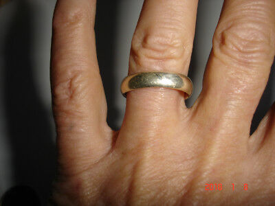 Nice Wonderful Condition Pre-Owned Vintage Plain Sterling Silver Band Ring