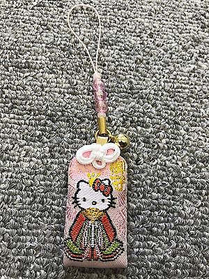 "Hello Kitty Japanese Amulet Omamori Good luck charm ""Everything"" pink"