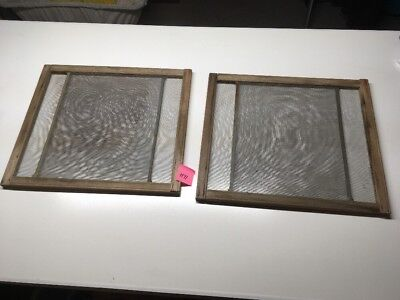 Pair of Vintage Expandable Antique Wood Vintage Window Screen Screens H71