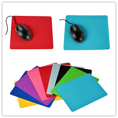 Fashion 10 Colors High Quality Square Mouse Pad Fabric Soft Rubber Mousepad