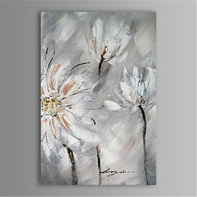 Modern Abstract Hand-Painted Flowers Oil Painting Home Decor Canvas Art Wall