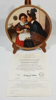 Norman Rockwell Gossiping In The Alcove Collector Plate #5478 A Edwin Knowles
