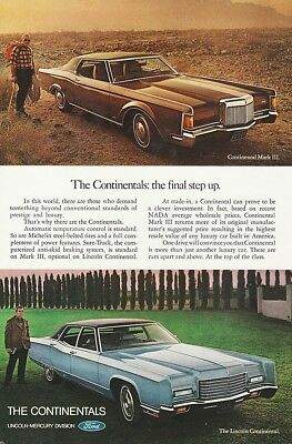 Ford Lincoln Continental & Mark III 1970's - Vintage Ads # 504