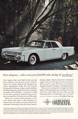 Ford Lincoln Continental 1960's - Vintage Ads # 82