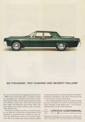 Ford Lincoln Continental 1963 - Vintage Ads # 209