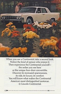 Ford Lincoln Continental 1964 - Vintage Ads # 657