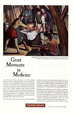 Parke-Davis Medicines - Great Moments in Medicine - 1960's - Vintage Ads # 378