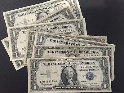 1935 & 1957 One Dollar Bills Clean Circulated Silver Certificate ...