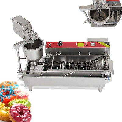 #304 Commercial Automatic GAS & Electric Donut Making Machine Donut Fryer 110V