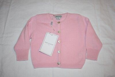 Papo d'Anjo 100% cashmere baby cardigan pink NWT