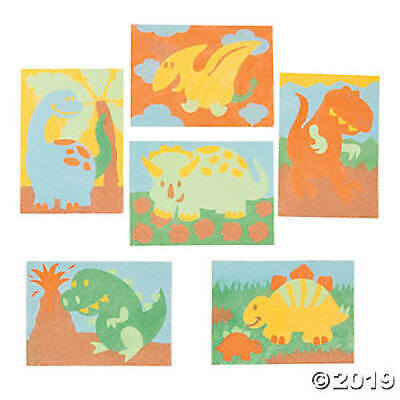 Dinosaur Sand Art Children's Kids Craft Kit Set Pack. 6 Designs to choose from.