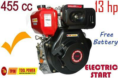 Diesel Engine TOOL POWER 13-hp, 25mm SHAFT with BATTERY+