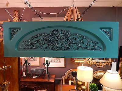 Antique Architectural Painted Carved Decorative Panel From 19Th Century Piano