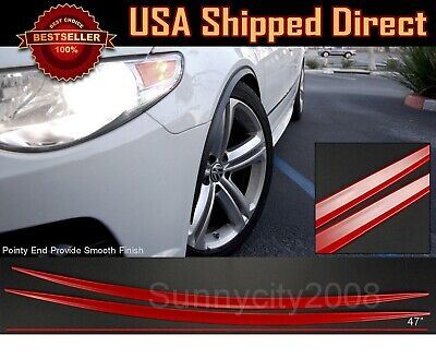 """2 x 29/"""" long Wide Arch Fender Flare Extension Black Protector For Hyundai Kia"""