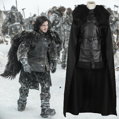 Game Of Thrones Jon Snow Umhang Cosplay Kostüm Halloween Karneval
