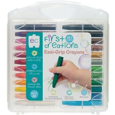 First Creations Easi-Grip Crayons - Set Of 24