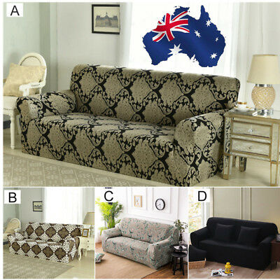 AU! Stretch Fit Sofa Cover Lounge Couch Removable Slipcover Washable 1 2 3Seater