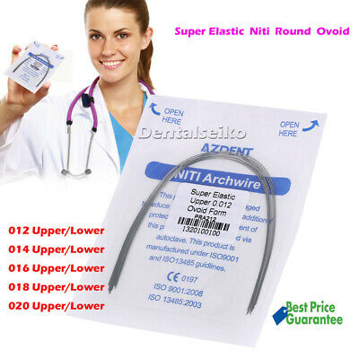 012-020Upper/Lower Dental Orthodonic Super Elastic Niti Arch Wires Round Ovoid