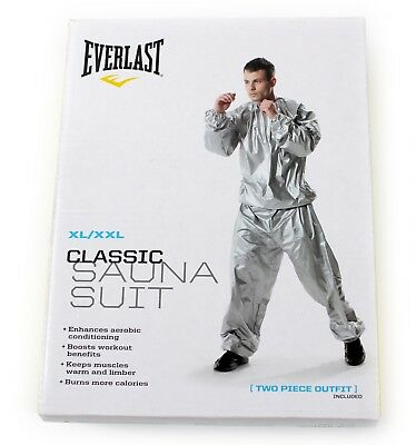 Everlast Xl/xxl Silver Super Sweat Sauna Suit Fitness Training Boxing Gym Unisex