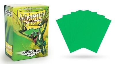 Dragon Shield Mat Apple Green 100 Protective Sleeves Cases Standard save Card