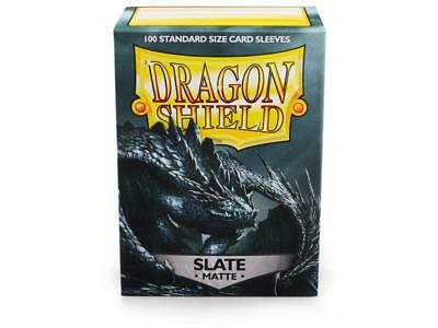 Dragon Shield Mat Slate 100 Protective Sleeves Cases Standard Card Holder