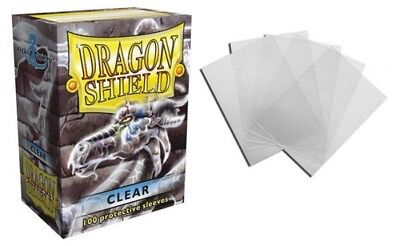 Dragon Shield - Clear 100 Protective Sleeves Cases Standard Card Holder