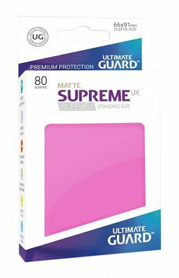Ultimate Guard - Supreme UX Sleeves Standard Mat Pink 80 Card Sleeves Cases