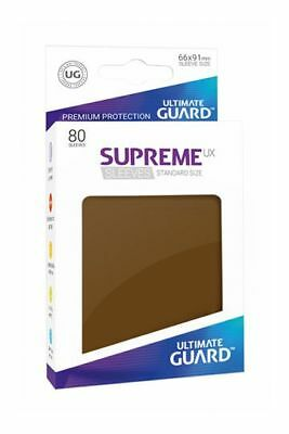 Ultimate Guard - Supreme UX Sleeves Standard Brown 80 Pieces Card Sleeves Cases