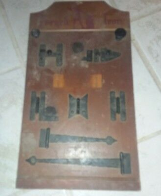 Vintage forged iron McKinney hinge display
