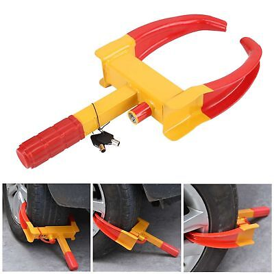 Heavy Duty Wheel Clamp Anti-Theft Lock Caravan Car Trailer Security + 2 Keys Chn
