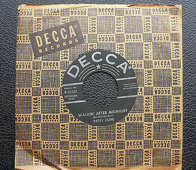 """7"""" Patsy Cline - Walking After Midnight - US DECCA"""