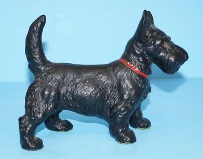 Antique Standing Scottie Dog Scottish Terrier Cast Iron Hubley Doorstop