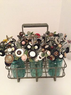 VTG Button Flowers $2.00 Each~Make Your Own Bokay~Cottage~Prim-Country Decor