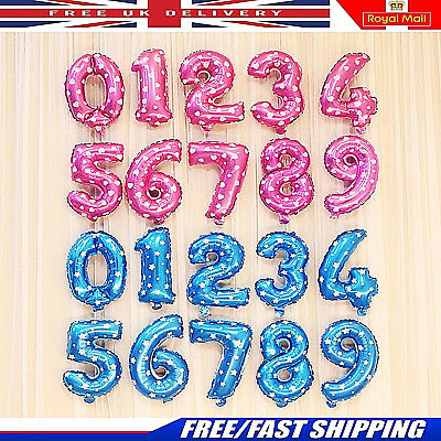 30 & 40 inch Number Foil Balloons Wedding Birthday Party Air Baloons UK STOCK