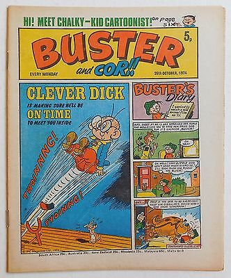 BUSTER and COR Comic - 26th October 1974