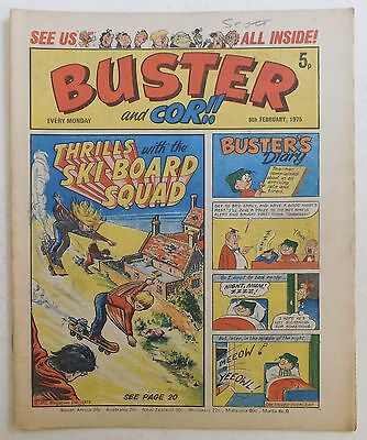 BUSTER and COR Comic - 8th February 1975
