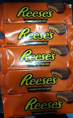 5 x 3pack Reese's Peanut Butter Cups * made in U.S.A. * 5 x 51 g (1.8 oz)