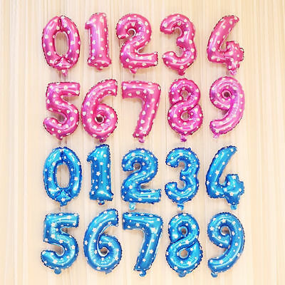 Wedding Birthday Party Air Baloons 30 & 40 inch Number Foil Balloons UK STOCK