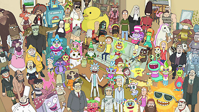 Rick and Morty Character Poster Print T918 |A4 A3 A2 A1 A0|