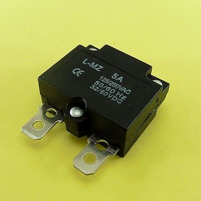 250V 5A 125V Overload Automatic Resettable Fuse Short Circuit Breaker Terminal