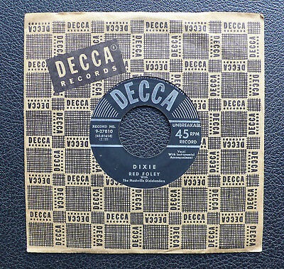 """7"""" Red Foley - Dixie - US DECCA"""