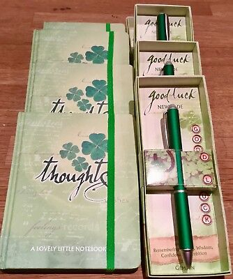 JOB LOT WHOLESALE New Jade GEMSTONE PENS AND JOURNAL NOTEBOOKS GOOD LUCK B207