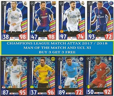 Topps - Champions League Match Attax 2017/18 Man of the Match & UCL All-Star XI
