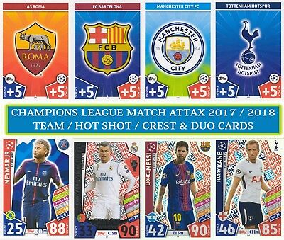 1 Topps - UEFA Champions League Match Attax 2017/2018 17 18 BUY 3 GET 7 FREE
