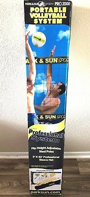 Portable Volleyball System Park & Sun Sports Pro 2000 Grass Set Up Game * New *