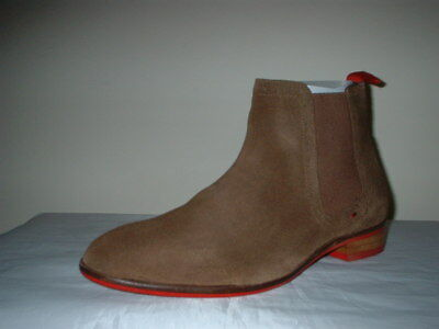 London Brogues Croxley Tan Suede Pull On  Chelsea Boots  Size 8/42