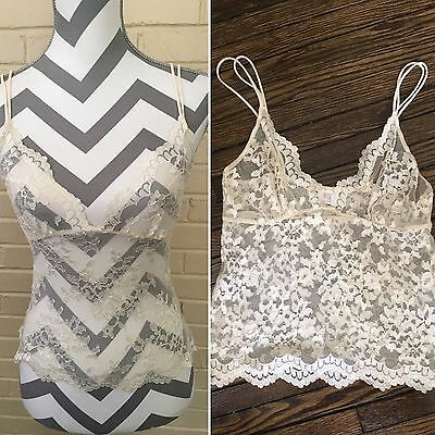 Only Hearts By Helena Stuart NYC Ivory Lace Lingerie Small Camisole Cami Bridal