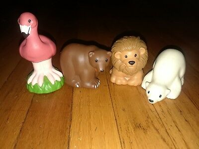 Fisher Price Little People Zoo Talkers Animal bear lion flamingo Replacement Toy