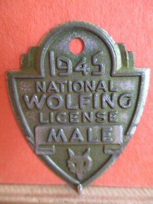 1945 National Wolfing License, MALE
