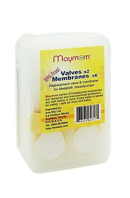 Valve × 2 Membranes × 6 Replacement for Medela Breastpumps